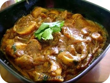 Mushroom Curry Recipe – Mushroom Masala Recipe – My Version