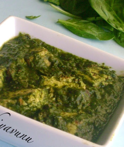 Palak Paneer Recipe – Sag Paneer Recipe – Spinach & Indian Cottage Cheese Gravy Recipe