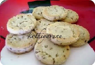 Vanilla Chocolate Chip Shortbread Cookies