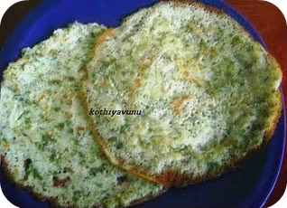 Spinach /Palak Dosa /Spinach Pancake – Indian Style