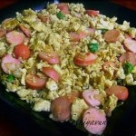 Egg Scrambled Sausage Stir Fry