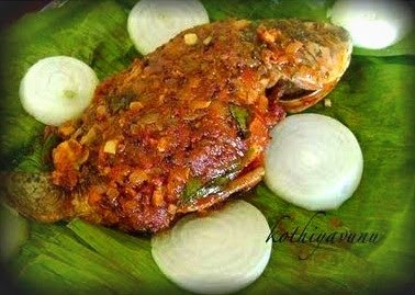 Meen Pollichathu Recipe | Fish in Banana Leaf Wrap