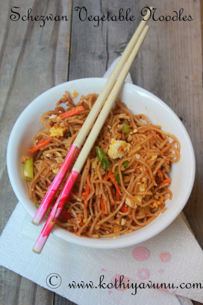 Schezuan-Szechuan Vegetable Noodles Recipe – Schezwan Hakka Veg Noodles Recipe