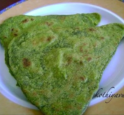 Palak/Spinach Paratha /Indian Bread with Spinach