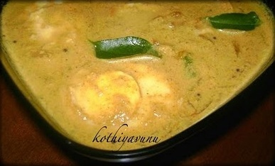 Mutta Thenga Pal Curry Recipe – Egg in Coconut Milk Curry Recipe