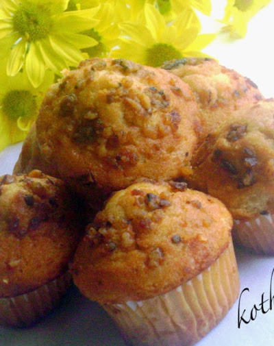 Eggless Butterless Almond Meal Banana Nut Muffins Recipe