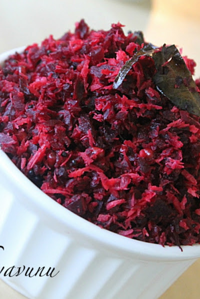 Beetroot Thoran Recipe – Beetroot Upperi Recipe | Beetroot Stir Fry Recipe