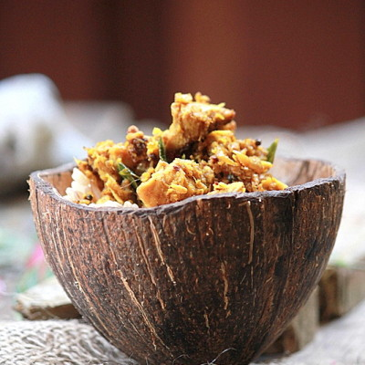 Nadan Kozhi Thoran Recipe – Chicken Thoran Recipe – Kerala Stir Fried Chicken