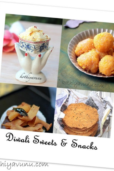 Diwali Sweets & Snacks Recipes & Happy Diwali!