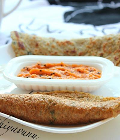 Ada Dosa /Adai /Lentil & Rice Pancakes