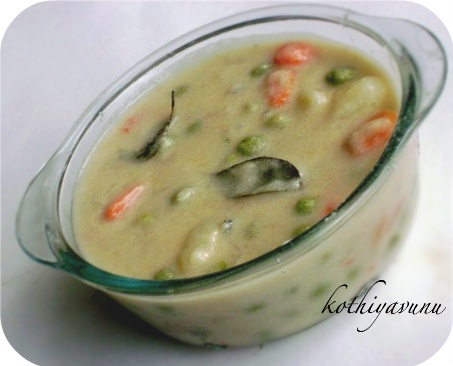 Vegetable Kurma-Kerala Style Vegetable Kurma |kothiyavunu.com