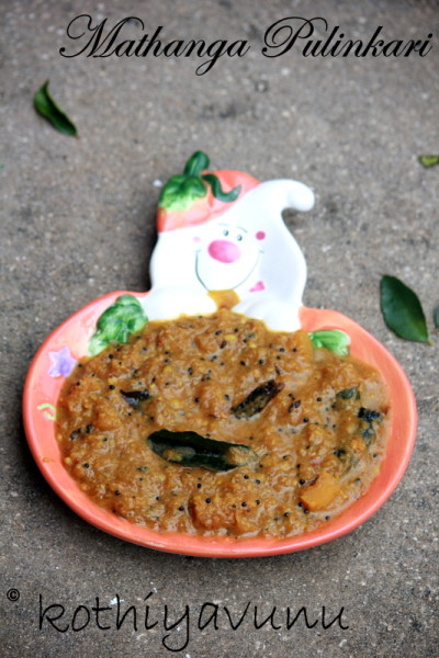 Mathanga Pulinkari – Pumpkin in Coconut and Tamarind Sauce