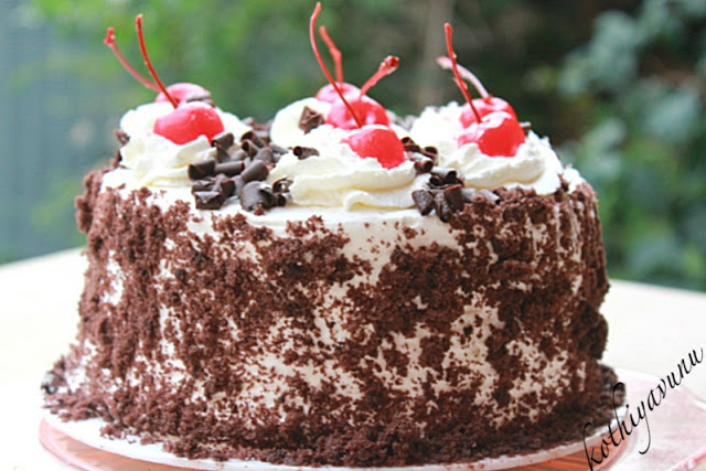Chocolate Cake Recipe Kerala Style: Black Forest Cake