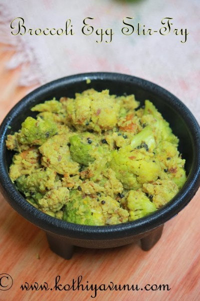 Broccoli Egg Thoran – Stir Fry Recipe | Broccoli Mutta Thoran Recipe