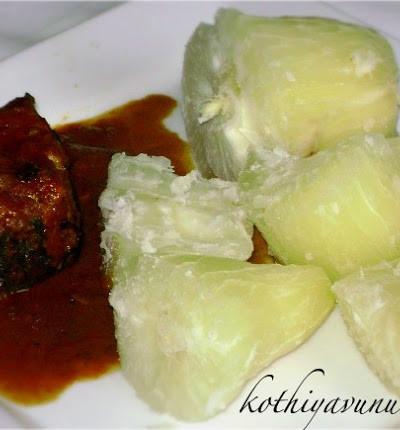 Kappa Puzhungiyathu with Meen Curry / Kappayum Meenum