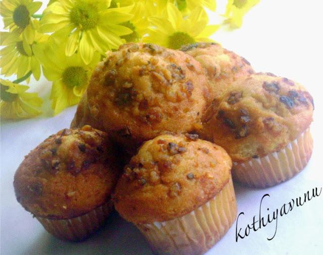 Eggless Butterless Almond Meal Banana Nut Muffins Recipe