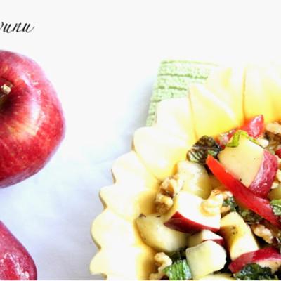Apple Mint Walnut Salad
