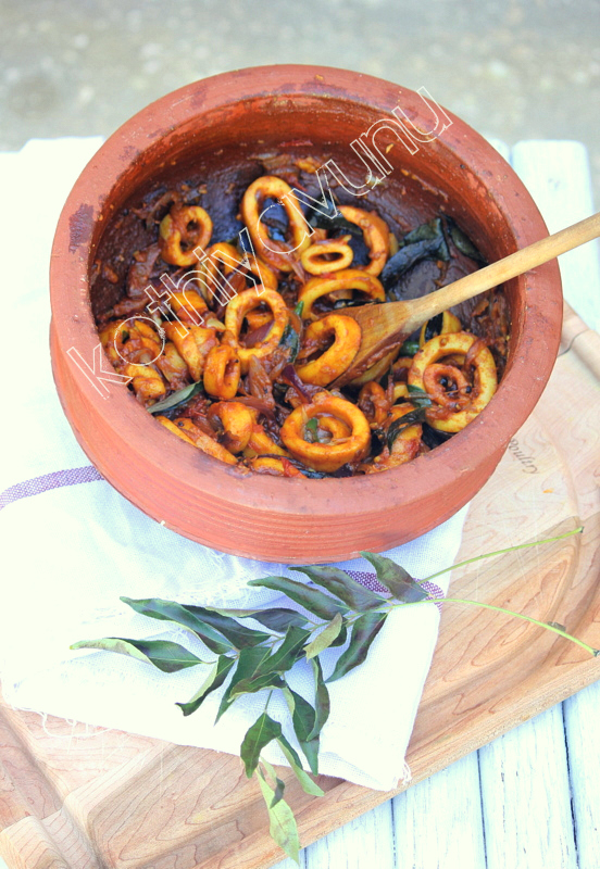 Kerala spicy squid roast nadan koonthal kanava roast recipe kerala spicy squid roast nadan koonthal kanava roast kothiyavunu forumfinder Image collections