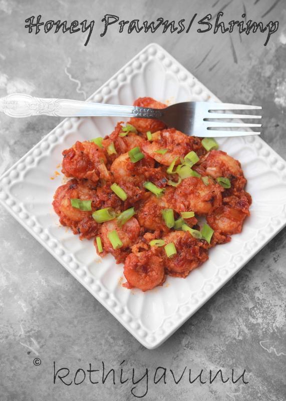 Honey Prawns-Shrimp Recipe | Sweet and Sour Shrimp-Prawns ...