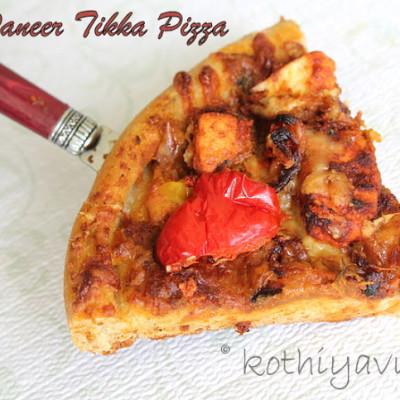 Whole Wheat Paneer Tikka Pizza Recipe