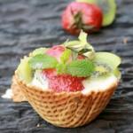 Waffel Bowl Fruity Cheesecake Tart |kothiyavunu.com