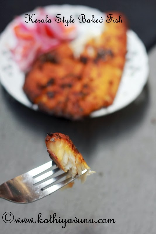 Spicy Baked Fish -Kerala Style | Baked Fish with Indian Spices |kothiyavunu.com