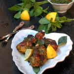 Baked Chicken Drumstick with Herbs-Kerala Style Baked Mint Corainder Chicken