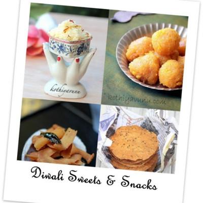 Diwali Sweets & Snacks Recipes & Happy Diwali!