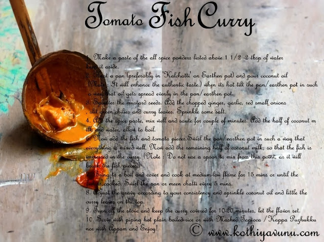how to make tomato fish curry