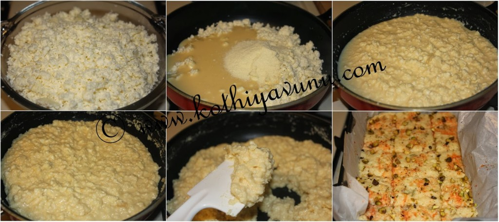 Kalakand -Milk Fudge |kothiyavunu.com