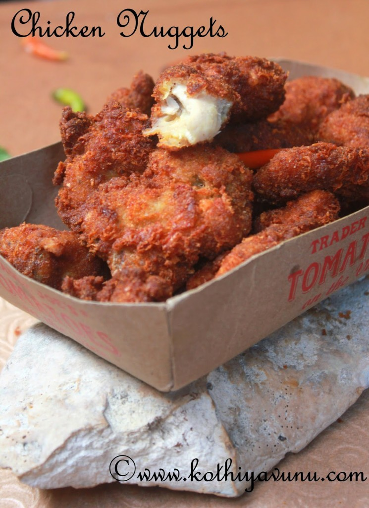 Chicken Nuggets - Homemade chicken nuggets-bites |kothiyavunu.com