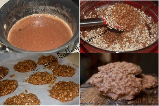 Almond No-Bake Cookies -Vegan Recipe |kothiyavunu.com