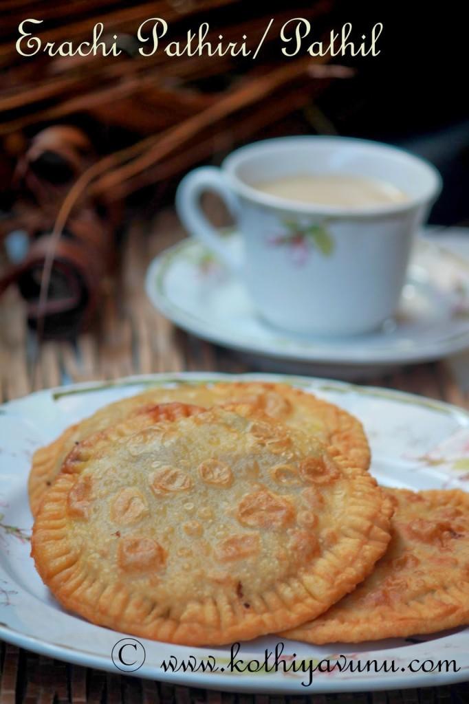 Irachi-Erachi Pathiri-Pathil-Meat Stuffed Fried Roti |kothiyavunu.com