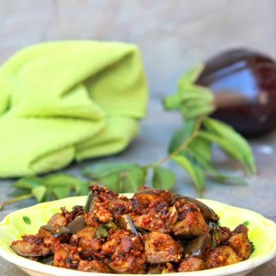 Eggplant-Brinjal Peanut Masala Recipe