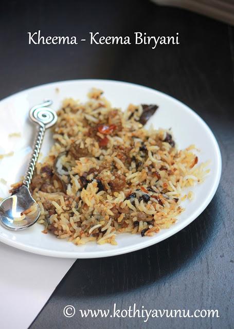 Kheema-Keema Biryani |kothiyavunu.com