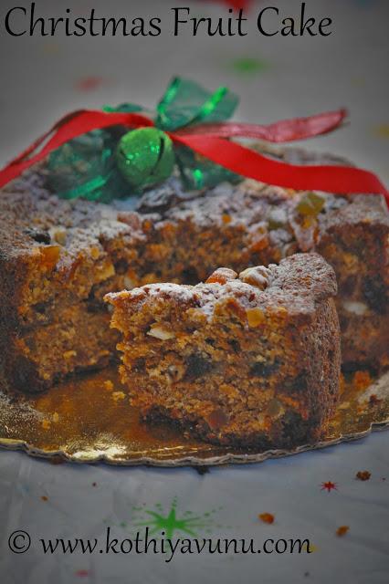 Kerala Plum Cake - Pressure Cooker Method