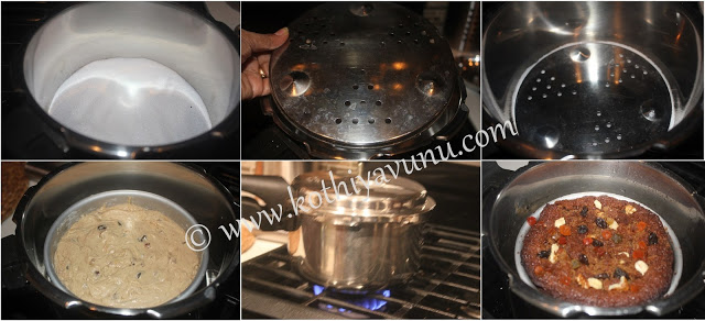 kerala plum cake pressure cooker method |kothiyavunu.com