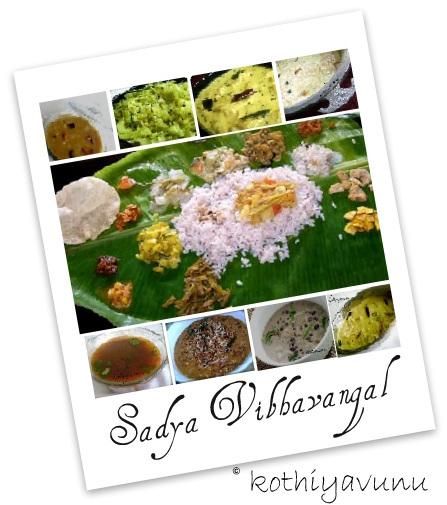 Kerala Sadya Recipes |kothiyavunu.com