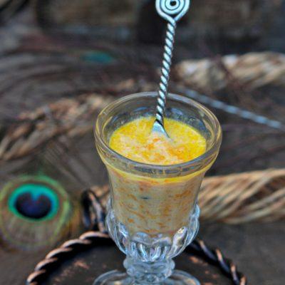 Carrot Pal Payasam – Pressure Cooker Method