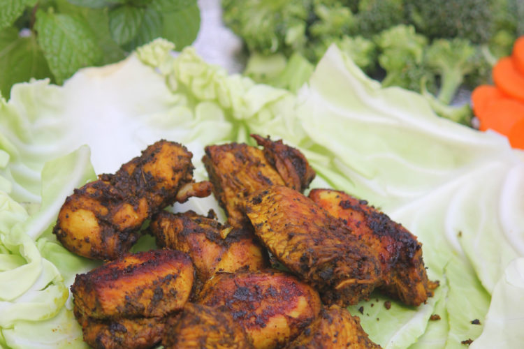 Lemon Garlic Herbs Grilled Chicken Bites  -Easy Grill Pan Method